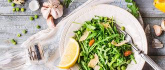 Тарелка со здоровой пищей